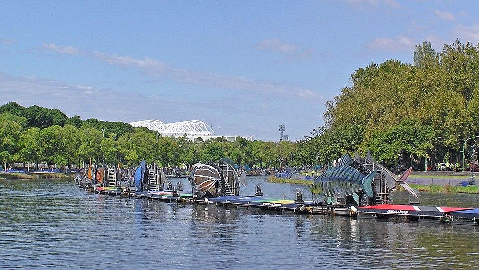Yarra River and Fish Boats