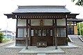 Yatsuo Hachiman-sha Shrine Haiden, Yatsumatsu Midori Ward Nagoya 2020.jpg