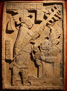 Yaxchilan Lintel 24 Ancient Maya limestone carving from Yaxchilan in modern Chiapas, Mexico