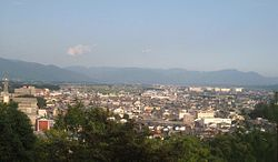 Yokaichi viewed from Enmei park.jpg
