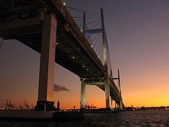 Yokohama Bay Bridge - Yokohama Bay Bridge at dawn