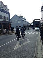 Yufuin Station from Yufumidori Street.jpg