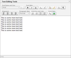 YUI Rich Text Editor - Image: Yuieditorbasic