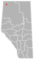 Zama City, Alberta Location.png