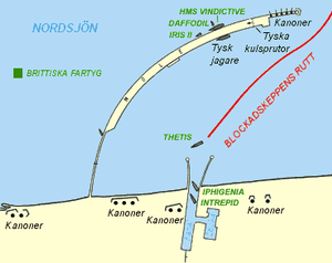 Zeebrugge Raid - Diagram of Zeebrugge harbour after the raid