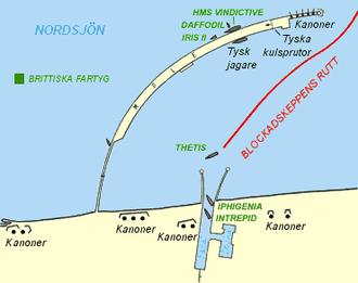 Zeebrugge Raid - Diagram of Zeebrugge harbour after the raid