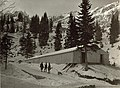 Zelthalle an der Straße Kranjska Gora (Kronau) - Mojstrovka bei der Rimlhütte 1915.jpg