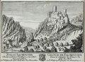 Zentralbibliothek Solothurn - SCHLOSS FALCKENSTEIN In dem Canton Solothurn von Mit tag anzusehen A St Wolfgang B Land Straß über den HauenStein Wappen Falkenstein CHÂTEAU DE FALCKENSTEIN Dans le Canton de Soleure du - a0371.tif