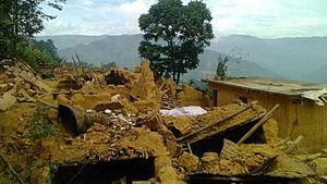 2014 Ludian earthquake - Zhoujiaping (周家坪村), after the earthquake