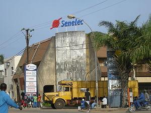 Senelec à Ziguinchor (Casamance, Sénégal)