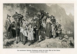 Anti-Protestantism - The Protestants from the Tyrolean Zillertal valley who had to leave their home in 1837