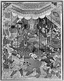 """Hamza's Heroes Fight in Support of Qasim and Badi'uzzaman"", Folio from a Hamzanama (The Adventures of Hamza) MET 38482(2).jpg"