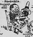 """NOVEMBER"" ""ROOSEVELTS NEW BABY"" ""PANAMA""- 1903 in Review (Bob Satterfield cartoon) (cropped).jpg"