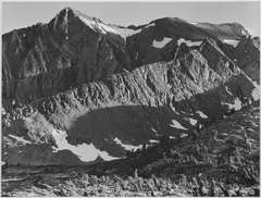 """Peak above Woody Lake, Kings River Canyon (Proposed as a national park),"" California, 1936., ca. 1936 - NARA - 519928.tif"