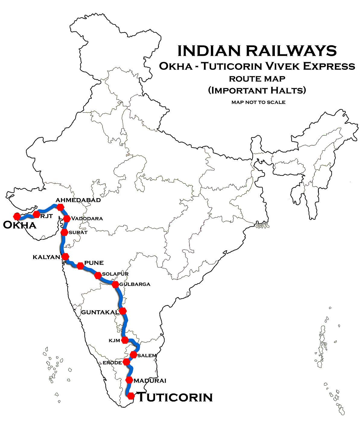 Okha - Tuticorin Vivek Express - Wikipedia