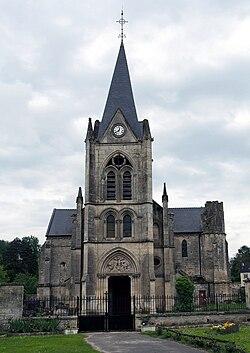 Église Saint-Nicolas de Laval-en-Laonnois - Façade.jpg