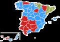 Élections municipales de 2015 en Espagne par province.png