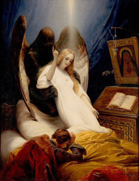 Ficheiro:Émile Jean-Horace Vernet - The Angel of Death.jpg
