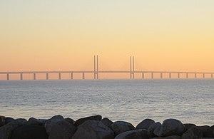 Öresundsbron i solnedgång 2