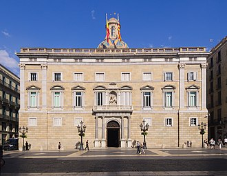 Politics of Spain - Façade of the Palace of the Generalitat of Catalonia