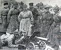 Фрунзе и Караев на занятиях по боевой подготовке воинов бакинского гарнизона. Апрель 1925 г.jpg