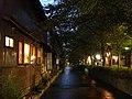 夕方の高瀬川と木屋町 - panoramio.jpg
