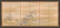芦雁図屏風; 柳に水上月図屏風-Goose and Reeds; Willows and Moon MET DP704984.jpg