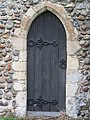 -2018-11-06 Side door on the south elevation, Saint Andrew's, Bacton.JPG