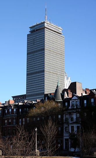 Prudential Tower - The Prudential Tower as seen from the Back Bay, near the intersection of Commonwealth and Massachusetts Avenues