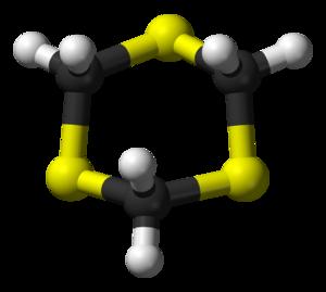 1,3,5-Trithiane - Image: 1,3,5 trithiane from xtal 3D balls