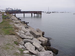 Riprap - Concrete rubble used as riprap along the San Francisco Bay shoreline