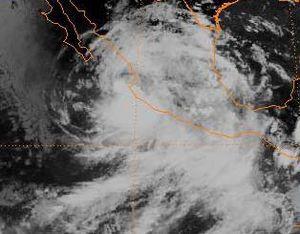 Hurricane Gert - Satellite image of Tropical Depression Fourteen-E