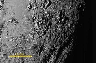 Tenzing Montes - Image: 15 152 Pluto New Horizons High Resolution 20150714 IFV