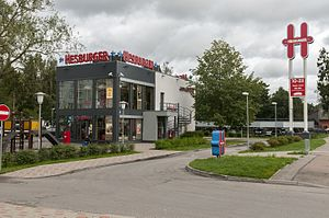 Hesburger - A typical Hesburger restaurant in Riga, Latvia.