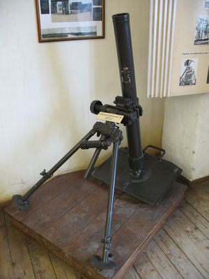 8 cm Granatwerfer 34 - A GrW 34 at the Festung Hohensalzburg
