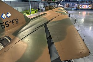 Variable-sweep wing - F-111E on display at the Museum of Aviation, Robins AFB, United States.