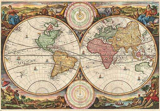 1730 Stoopendaal Map of the World in two Hemispheres - Geographicus - WereltCaert-stoopendaal-1730