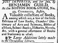 1791 BenjaminGuild BostonBookStore ColumbianCentinel Jan15.png