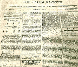 Salem Gazette - Salem Gazette, 1802