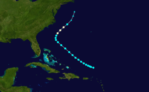 1889 Atlantic hurricane season - Image: 1889 Atlantic hurricane 1 track