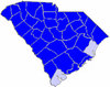 Blue counties were won by Ellerbe