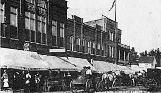 Bangor, Wisconsin - Bangor's Business District, circa 1902