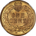 1909 Indian Cent NGC MS65RD Reverse.png