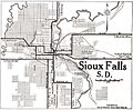 1920 map Sioux Falls, South Dakota Automobile Blue Book.jpg