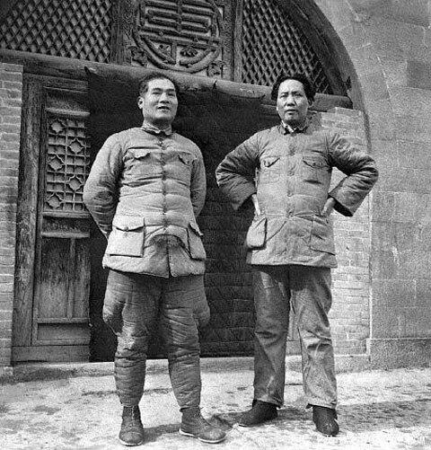 1938 Mao Zedong Zhang Guotao in Yan'an