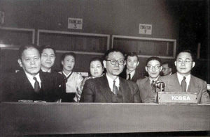 Chang Myon - Third UN General Assembly, 1948