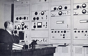 Media of Afghanistan - Central control panel at Radio Kabul transmitter in the 1950s. Transmitter can be heard as far distant as South Africa and Indonesia.