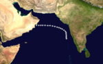 1970 Indian cyclone 3 track.png