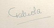 1972 signature of Queen Queen Fabiola of Belgium.jpg