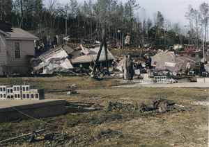 Great Storm of 1975 - Damage from an F3 tornado in St. Clair County, Alabama